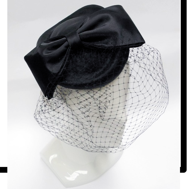FH2316 - Bow Fascinator with Veil on Head Band by FAB